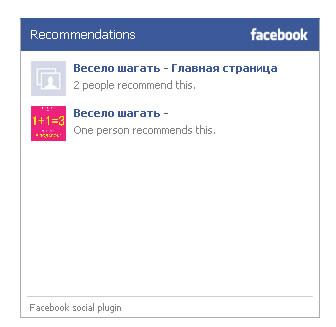 Сколько пользователей рекомендуют это в FaceBook