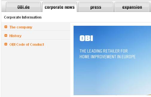 Корпоративные новости OBI вместо ассортимента