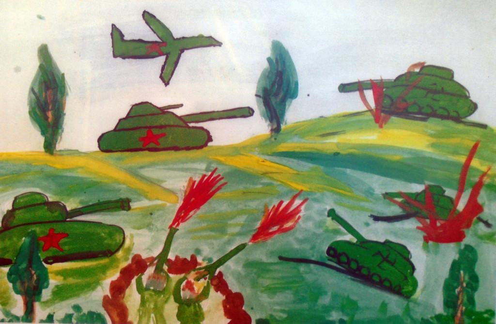 Наступление самолеты и танки