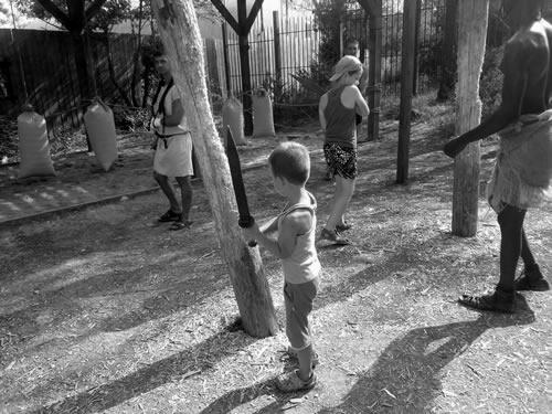 Занятия детей с мечом
